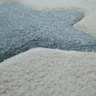 Kinderzimmer Teppich Beige Bunt Pastellfarben 3-D Stern Design Niedlich Weich - Vorschau 3