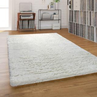 Hochflor-Teppich, Shaggy Waschbar Für Wohnzimmer Und Schlafzimmer, Beige Creme