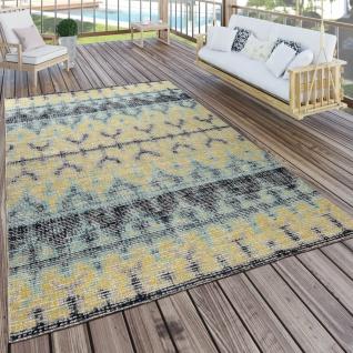 In- & Outdoor Teppich Modern Nomaden Design Terrassen Teppich Wetterfest Bunt