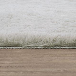 Teppich Wohnzimmer Kunstfell Plüsch Hochflor Shaggy Super Soft Waschbar In Beige - Vorschau 3