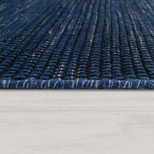 Handgewebter Teppich Flachgewebe Skandinavischer Look Meliert Webmuster In Blau - Vorschau 2