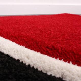 Bettumrandung Läufer Teppich Modern Karo Rot Grau Schwarz Weiss Läuferset 3 Tlg. - Vorschau 2