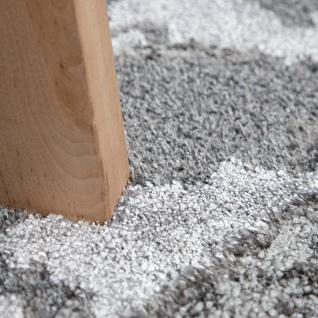 Teppich Wohnzimmer Kurzflor 3D Effekt Abstraktes Stein Muster Grau Anthrazit - Vorschau 3
