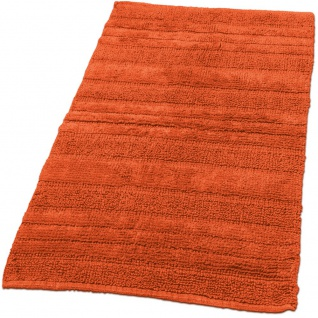 Badematte Badteppich Badezimmerteppich aus Baumwolle Einfarbig in Orangev