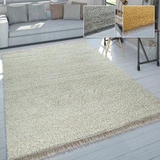 Wohnzimmer-Teppich, Hochflor Shaggy, Weich Robust Strapazierfähig Kuschelig