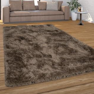 Hochflor Teppich Wohnzimmer Shaggy, Pastell Farben, Weicher Soft Garn, Einfarbig - Vorschau 4