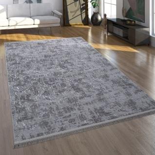 Teppich, Kurzflor Für Wohnzimmer Im Orient-Look, Waschbar, Anthrazit Grau