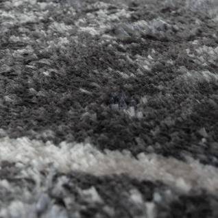 Teppich Wohnzimmer Rauten Fransen Skandinavisch Muster Karo In Grau Creme - Vorschau 3
