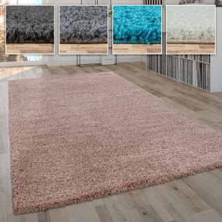 Shaggy Teppich Hochflor Flauschig Wohnzimmer Uni In Versch. Farben & Größen