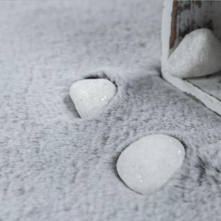 Teppich Fellteppich Kunstfell Wohnzimmer Hochflor Shaggy Flauschig Weich Plüsch, Grau - Vorschau 5