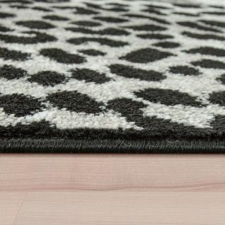 Designer Teppich Patchwork Design Tierfell Motive Modern Grau Anthrazit Weiß - Vorschau 2