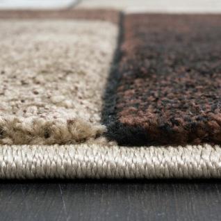 Designer Teppich Kariert Modern Trendig Meliert Eyecatcher in Beige Braun Grau - Vorschau 3