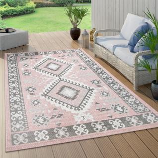 In- & Outdoor-Teppich Für Balkon Und Terrasse, Mit Orient-Muster, In Rosa