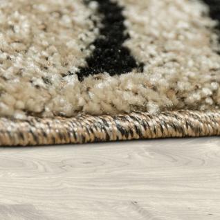 Edler Designer Teppich Safari Stil Kurzflor Konturenschnitt In Beige Schwarz - Vorschau 2