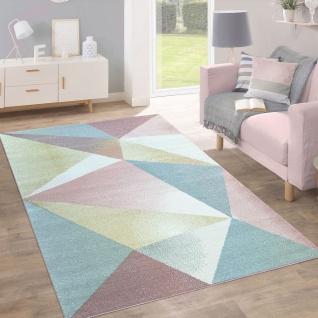 Teppich Kurzflor Modern Trendig Pastell Geometrisches Design Inspiration Multi