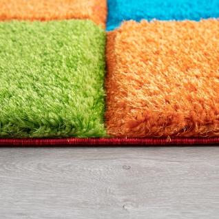 Hochflor Teppich Wohnzimmer Kinderzimmer Shaggy 3D Effekt Würfel Muster Bunt - Vorschau 2