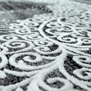 Orient Teppich Modern 3D Effekt Ornamente Meliert Grau Anthrazit Schwarz - Vorschau 2