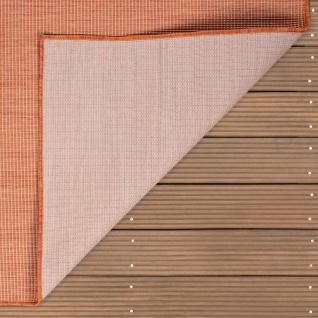 In- & Outdoor-Teppich Für Wohnzimmer, Balkon, Terrasse, Flachgewebe Terracotta - Vorschau 5