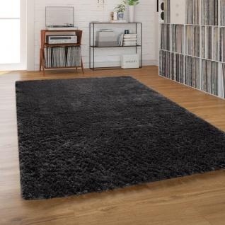 Hochflor-Teppich, Shaggy Waschbar Für Wohnzimmer Und Schlafzimmer, Anthrazit Grau