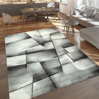 Designer Teppich Mit Konturenschnitt Moderne Muster Abstrakt In Grau Meliert