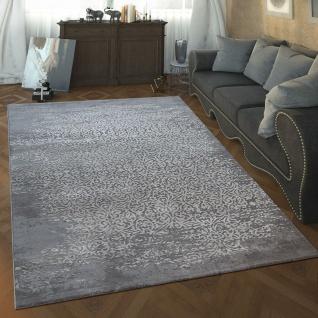 Designer Wohnzimmer Teppich Mit Hoch Tief Struktur Vintage Orient Muster In Grau