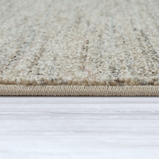 Wohnzimmer-Teppich, Einfarbiger Kurzflor Mit Velours-Gewebe, In Meliertem Beige - Vorschau 2