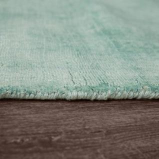 Teppich Handgefertigt Hochwertig 100 % Viskose Vintage Trend Farbe Pastell Grün - Vorschau 2