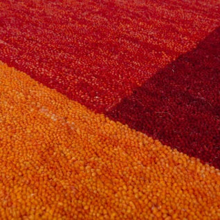 Teppich Handgewebt Gabbeh Hochwertig Meliert 100% Wolle Kariert Multicolor - Vorschau 3
