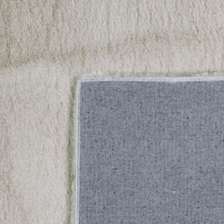 Teppich Wohnzimmer Kunstfell Plüsch Hochflor Shaggy Super Soft Waschbar In Beige - Vorschau 5