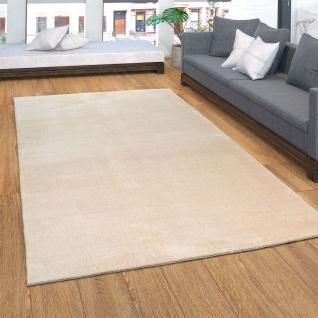 Teppich, Kurzflor-Teppich Für Wohnzimmer, Weich, Super Soft, Waschbar, In Beige