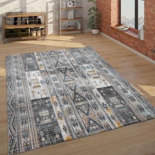 Teppich Wohnzimmer Kurzflor Geometrisches Muster, Modern Und Trendig In Braun Beige