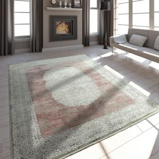 Wohnzimmer Teppich Acrylgarn Vintage Look Fransen 3D Klassisch ...
