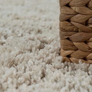 Shaggy Teppich Wohnzimmer Beige Creme Hochflor Soft Flauschig Einfarbig Robust - Vorschau 3