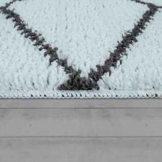 Badematte Mit Rauten-Muster, Kurzflor-Teppich Für Badezimmer In Anthrazit Weiß - Vorschau 2