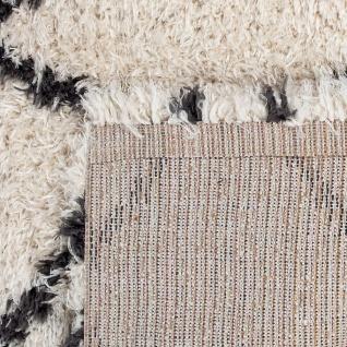 Hochflor Teppich Wohnzimmer Shaggy Skandi Rauten Muster Weich Flauschig In Creme - Vorschau 4