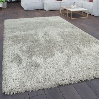 Teppich Wohnzimmer Shaggy Hochflor Flokati Modern Einfarbig In Grau