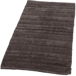 Badematte Badteppich Badezimmerteppich aus Baumwolle Einfarbig in Braun Taupe