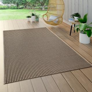 In-& Outdoor Teppich Balkon Küchenteppich Sisal Optik Modern Einfarbig Beige Braun