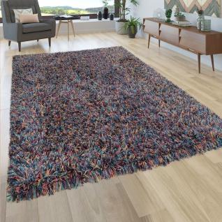 Hochflor Teppich Wohnzimmer Shaggy In Multicolor Bunt Extra Langer Weicher Flor