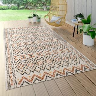 Outdoor Teppich Für Terrasse Und Balkon, Geometrisches Muster, Modern Multicolor