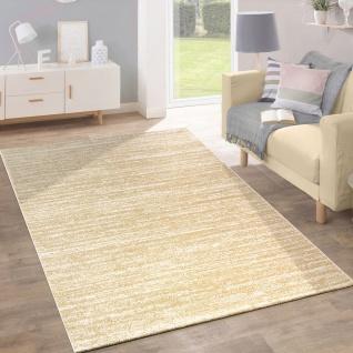 Teppich Kurzflor Modern Trendig Pastellfarben Design Meliert Einfarbig Gelb