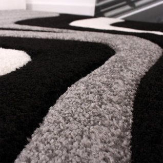 Bettumrandung Läufer Teppich Trendig Modern Grau Schwarz Weiss Läuferset 3Tlg - Vorschau 2