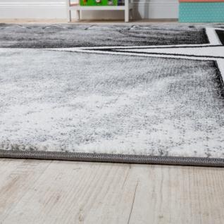 Teppich Kinderzimmer Stern Design Spielteppich Kinderteppich Kurzflor in Grau - Vorschau 2