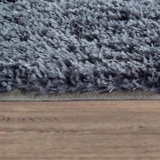 Hochflor Wohnzimmer Teppich Shaggy Konturenschnitt Stein Design In Anthrazit - Vorschau 2