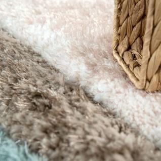 Teppich Wohnzimmer Bunt Türkis Braun Weich Shaggy Flauschig Abstrakt Hochflor - Vorschau 3