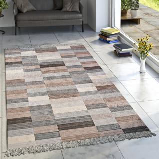 Designer Teppich Wohnzimmer Teppiche Karo Streifen Muster Bedruckt ...