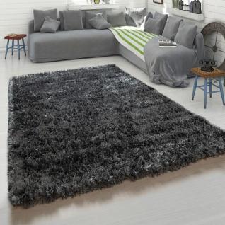 Hochflor-Teppich, Kuschelig Weicher Flokati-Teppich, Einfarbig In Grau Anthrazit