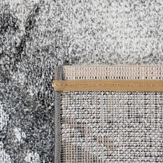 Teppich Wohnzimmer Kurzflor 3D Effekt Abstraktes Stein Muster Grau Anthrazit - Vorschau 4