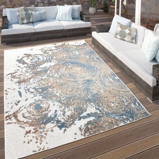 In- & Outdoor-Teppich Für Balkon Terrasse, Kurzflor-Teppich, 3-D-Muster, In Beige