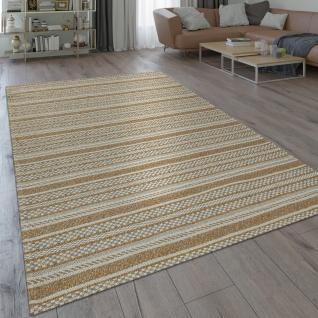 Teppich Wohnzimmer Muster Orientalisch Modern Beige Braun Natur